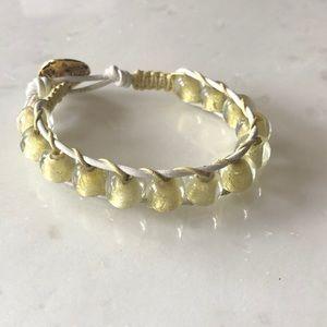 Jewelry - Gold Glass Bead Bracelet
